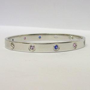 b78af09061bc1 18ct white gold Cartier 10 coloured stone Love bracelet