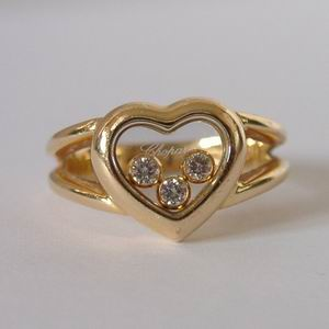 18ct Yellow Gold Chopard Happy Diamonds Ring