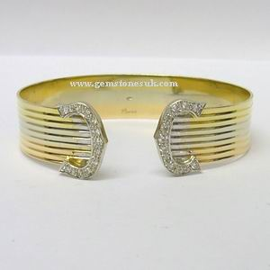Cartier 18ct gold Trinity Double C Diamond Bracelet