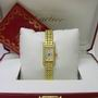 Cartier diamond 18ct gold tank francaise watch