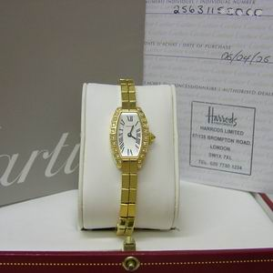 Cartier Diamond Lanieres Watch 18ct Yellow Gold