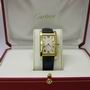 Cartier tank americaine mid-size 18ct gold watch