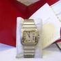 Gents quartz bi-metal cartier santos watch B/Papers
