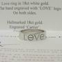 Cartier 18ct White Gold Love logo ring
