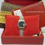 Ladies 79160 steel blue dial rolex date watch