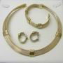 Boodles Trinity Necklace, Earrings & Bangle 9ct Suite