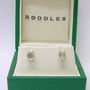 Boodles 2.08ct Emerald diamond platinumn earrings