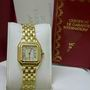 Ladies 18ct yellow gold cartier panthere watch