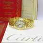 Cartier 18ct yellow gold quartz Vendome watch