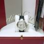 Cartier diamond pasha auto watch 18ct white gold
