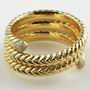 18ct yellow gold diamond bvlgari spiga bangle