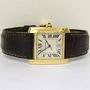 18ct Gold Cartier Tank Francaise auto watch