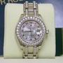 Rolex diamond pearlmaster 80299 datejust gold watch