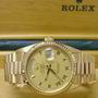 18ct Gold 11823 Rolex Oyster Day-Date watch.