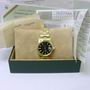 Rolex 15007 date 14ct gold oyster watch B/P