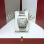 Mint Gent's steel cartier santos quartz watch